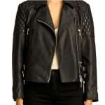 QUILTED BIKER DIAMOND JACKET