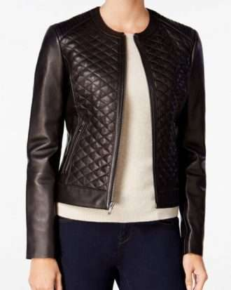 Women black original shade biker style Jacket